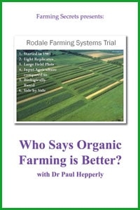 Who Says Organic Farming is Better