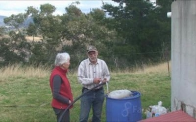 Bruce Davison shows Helen his compost tea brewer. Part 5 of 5