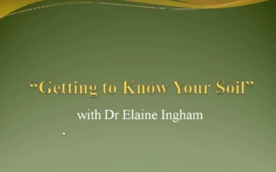 "Dr Elaine Ingham Invites You To Her Free Online Video Series: ""Getting to Know Your Soil"""